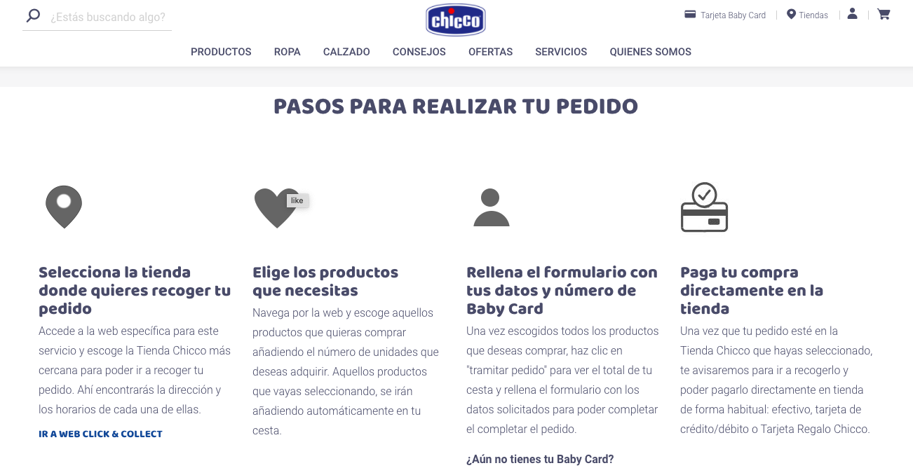 Click & Collect Retail Chicco